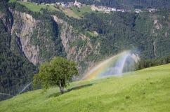 Agricoltura biologica nel Tirolo del sud Fotografie Stock