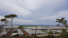 Agricoltura che coltiva le serre, vista dalle montagne di Carmel, Israele Immagine Stock Libera da Diritti
