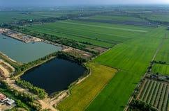 Agricoltura, coltivante fotografia aerea in Asia Immagini Stock