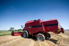 Agricoltura - Combine Fotografia Stock Libera da Diritti