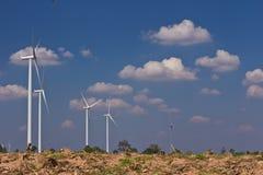 Agricoltura con il generatore di turbina del vento Immagini Stock Libere da Diritti
