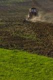 Agricoltura con il trattore Immagini Stock Libere da Diritti