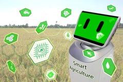 Agricoltura, concetto di tecnologia del robot Immagine Stock