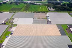 Agricoltura dal cielo Fotografia Stock Libera da Diritti