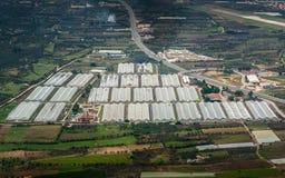 Agricoltura dal cielo Fotografie Stock Libere da Diritti