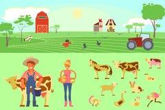 Agricoltura degli elementi infographic Fotografia Stock