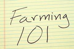 Agricoltura dei 101 su un blocco note giallo Fotografia Stock