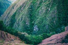 Agricoltura dei terrazzi su una scogliera Fotografia Stock