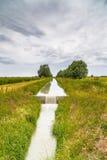 Agricoltura del canale per la raccolta delle acque Fotografia Stock