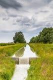 Agricoltura del canale per la raccolta delle acque Immagini Stock Libere da Diritti
