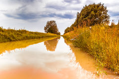 Agricoltura del canale per la raccolta delle acque Fotografia Stock Libera da Diritti