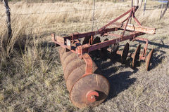 Agricoltura dell'annata dell'aratro Immagini Stock Libere da Diritti