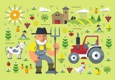 Agricoltura dell'illustrazione illustrazione di stock