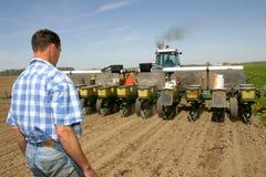 Agricoltura della famiglia Fotografia Stock
