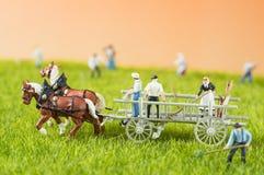 Agricoltura della gente del giocattolo Fotografia Stock Libera da Diritti