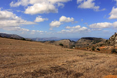 Agricoltura della montagna del Cretan Immagine Stock