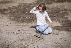 Agricoltura della ragazza Fotografie Stock Libere da Diritti