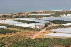Agricoltura della serra della Grecia Immagine Stock