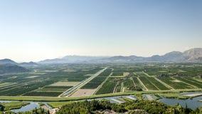 Agricoltura della valle di Neretva Fotografia Stock