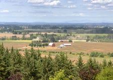 Agricoltura della valle di Willamette della campagna dell'Oregon Fotografie Stock