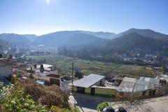 Agricoltura della valle in San Cristobal de Las Casas, il Chiapas Fotografia Stock Libera da Diritti