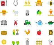 Agricoltura delle icone Fotografia Stock Libera da Diritti