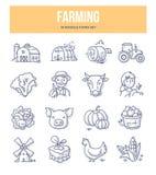 Agricoltura delle icone di scarabocchio illustrazione vettoriale