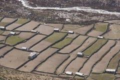 Agricoltura di elevata altitudine Fotografie Stock Libere da Diritti