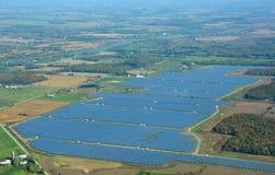 Agricoltura di energia solare Immagine Stock