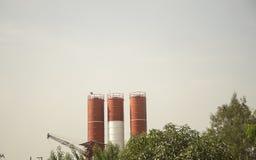 Agricoltura di industria del silo in Tailandia Fotografie Stock