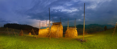 Agricoltura di sussistenza alpina Fotografia Stock