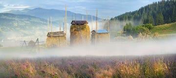 Agricoltura di sussistenza alpina Immagini Stock