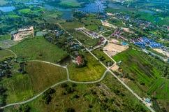 Agricoltura di sviluppo del territorio ed industria di agricoltura Fotografia Stock Libera da Diritti