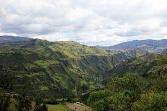 Agricoltura e elevata altitudine che coltivano nelle Ande ecuadoriane, Ecuador Fotografia Stock Libera da Diritti