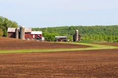 Agricoltura e fondo di azienda agricola Concetto rurale di vita Fotografia Stock Libera da Diritti