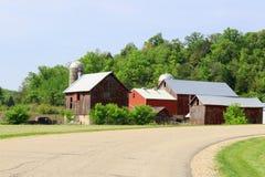 Agricoltura e fondo di azienda agricola Concetto rurale di vita Fotografia Stock