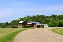 Agricoltura e fondo di azienda agricola Concetto rurale di vita Immagine Stock Libera da Diritti