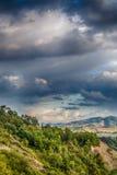 Agricoltura e natura in colline di Romagna Immagine Stock