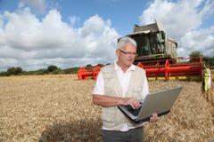 Agricoltura e tecnologia Fotografia Stock Libera da Diritti