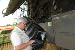 Agricoltura e tecnologia Immagini Stock
