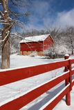 Agricoltura e vita rurale al fondo di inverno Fotografia Stock Libera da Diritti