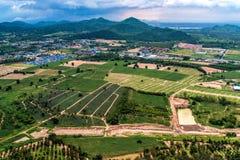 Agricoltura ed agricoltura di sviluppo del territorio Immagini Stock