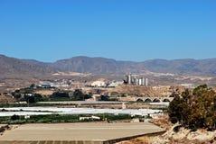 Agricoltura ed industria, Almeria, Andalusia, Spagna. Fotografie Stock