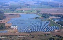 Agricoltura a energia solare Fotografie Stock Libere da Diritti
