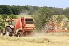 Agricoltura - fieno pressato Immagine Stock Libera da Diritti