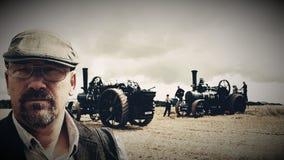 Agricoltura i motori a vapore e del country folk Il Regno Unito Fotografie Stock
