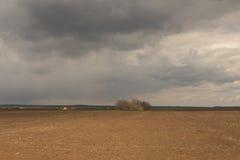 agricoltura Il trattore prepara il campo per la semina del grano dentro Immagini Stock