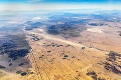 Agricoltura nel deserto Immagini Stock Libere da Diritti