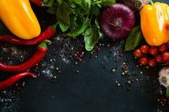 Agricoltura organica di eco del fondo della verdura fresca Fotografie Stock Libere da Diritti
