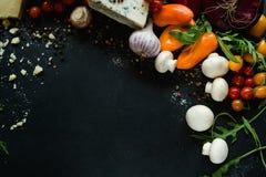 Agricoltura organica di eco del fondo della verdura fresca Immagini Stock Libere da Diritti